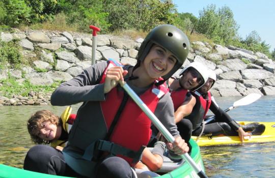 In canoa sul Ticino